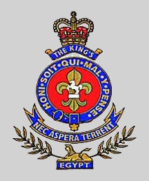 King's Regiment Badge.