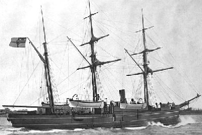 SMS Eber, sunk during the Samoa Hurricane of March, 1889.
