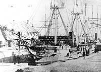USS Vandalia before being wrecked in the Samoa Hurricane of March, 1889.