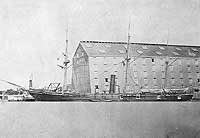 USS Nipsic before being severely damaged in the Samoa Hurricane of March, 1889.