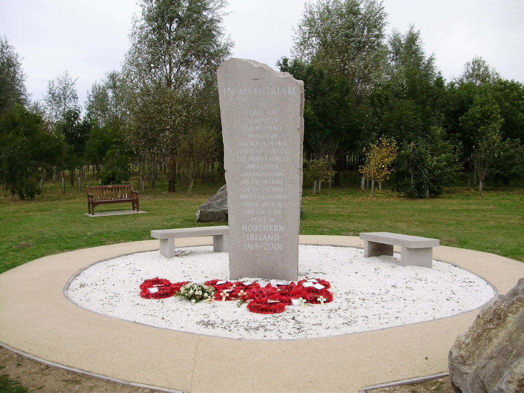 Northern Ireland memorial at National Memorial Arboretum.